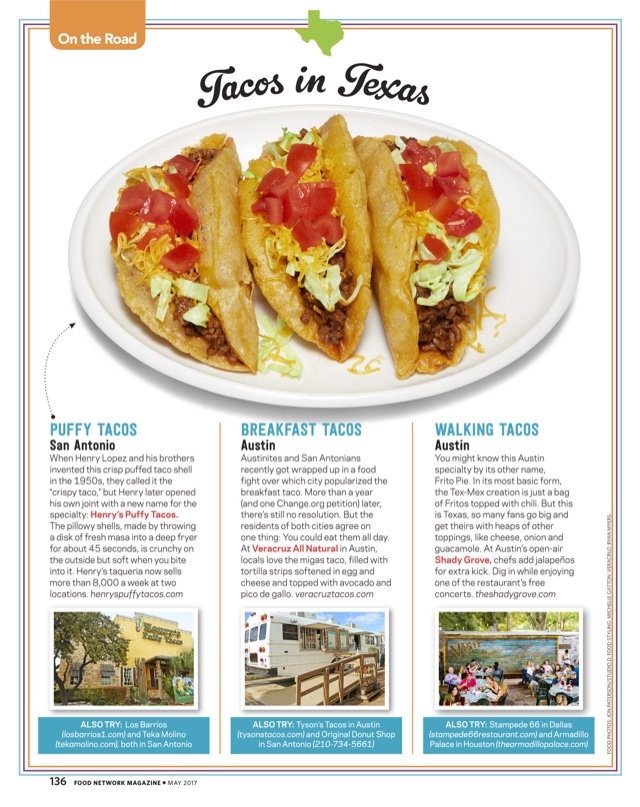 Food Network Magazine Henrys Puffy Tacos